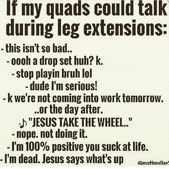 """K we're not coming into work tomorrow""... The feels are real after leg day especially when it comes to drop sets and supersets baby!!! Hope your workout kicked booty today #fitfam! by jen.catuccio"