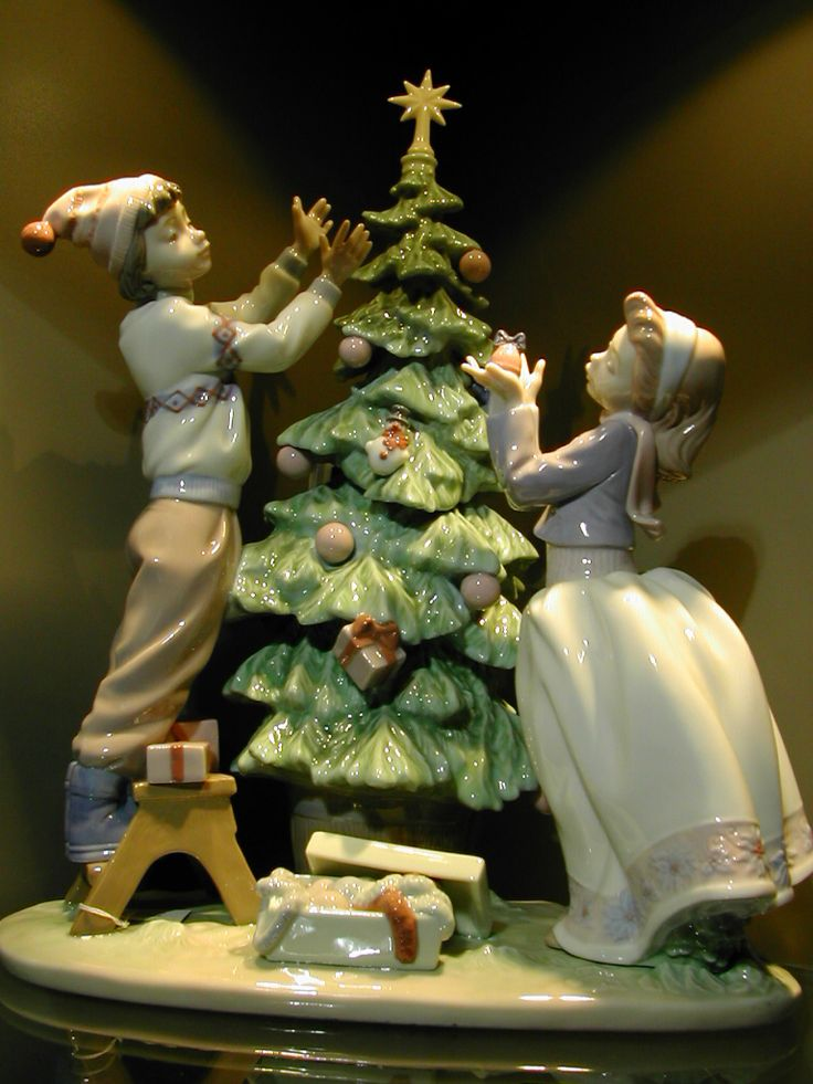 Lladro 05897 Trimming the tree http://lladro.stores.yahoo.net/05trimtre.html