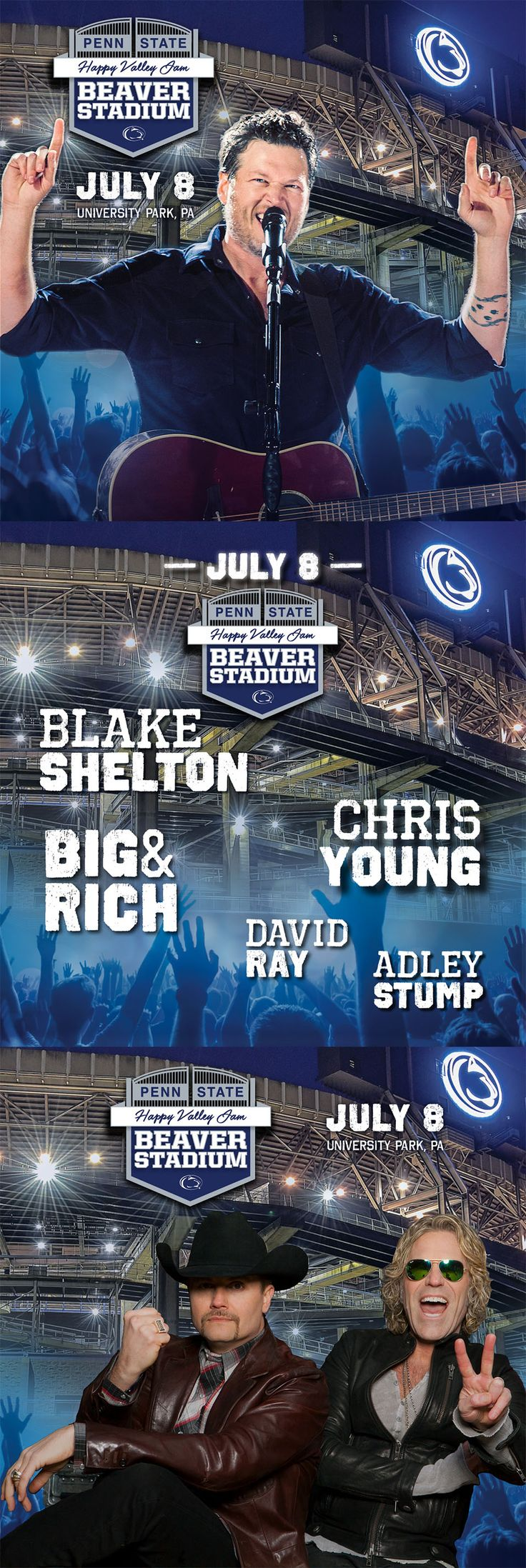 For the first time in Beaver Stadium history, a concert will be the main attraction. Click to read more.