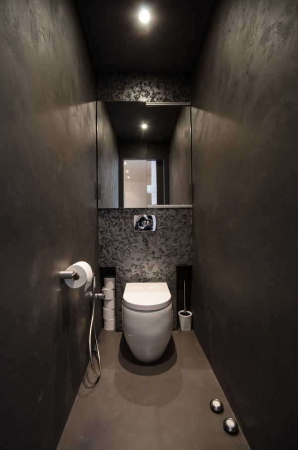 bathroom in a renovated attic apartment by OOOOX