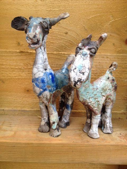 Raku'd  - wonky donkeys