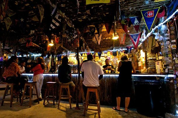 Wish you were here sidling up to the bar at foxy s in jost van dyke