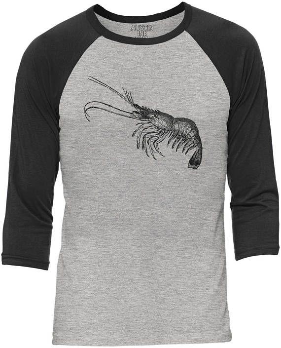 Austin Ink Apparel Little Shrimp Heather Grey Body Unisex 3/4 Contrast Sleeve Baseball Tee