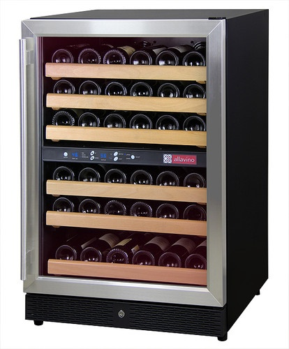 Allavino MWR-542-SSR - 51 Bottle Stainless Dual Zone Wine Cellar Refrigerator