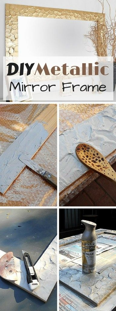 Check out the tutorial: #DIY Metallic Mirror Frame #crafts #homedecor