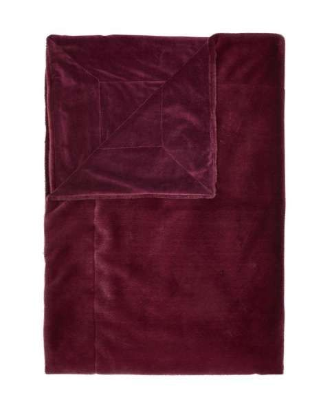 ESSENZA Plaid Furry Burgundy 150×200