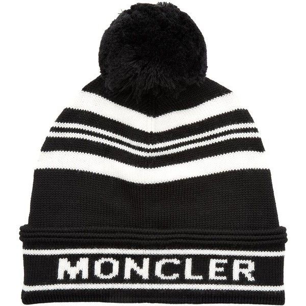 Moncler Wool Logo Pom Pom Hat 300 Liked On Polyvore Featuring Accessories Hats Pom Pom Hat Woolen Hat Foldable Hat Wool Logo Moncler Hat Pom Pom Hat