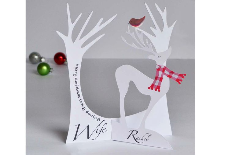A Unique  3.d Personalised  Christmas Card for a Wife/ Husband or loved one. - pinned by pin4etsy.com