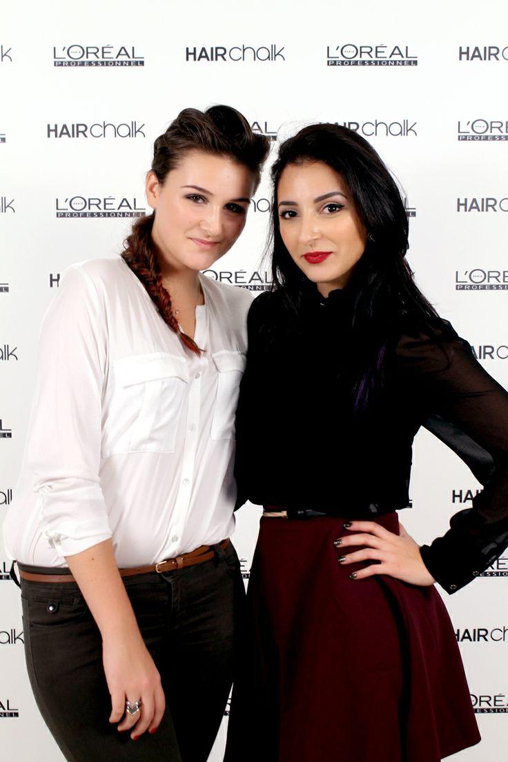 #HAIRCHALK Party à l'Académie L'Oréal Professionnel #jenesuispasjolie #sananas2106 Mes deux youtubeuses préfèrés