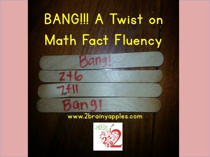 Bright Idea: BANG! A Twist on a Math Fact Fluency Game. Tired of playing Around the World? Try out BANG!!! a game that will levels the playing field for ALL of your students because any of them could win…not just the fastest fact recallers.