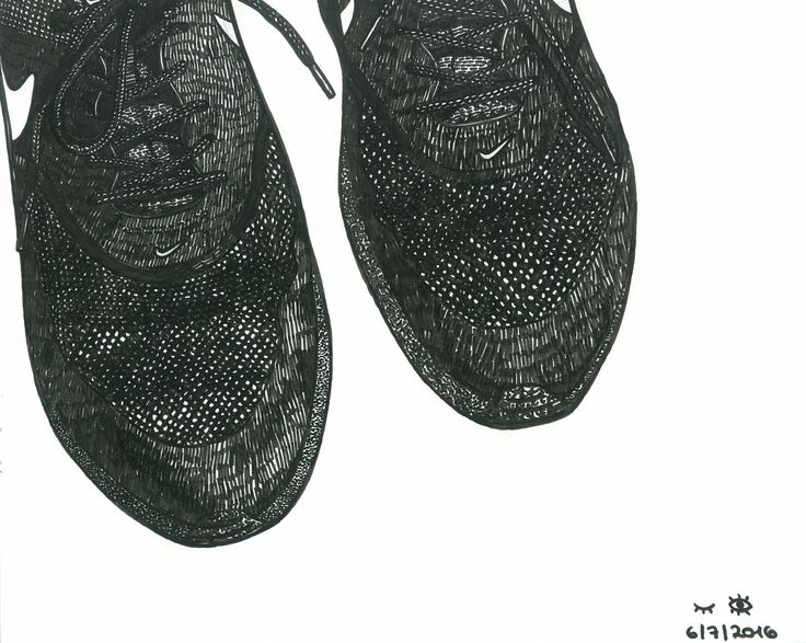 Nike sneakers. Illustration by Tereza Basarova