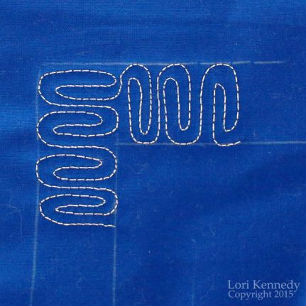 Paperclip, Free Motion Quilting