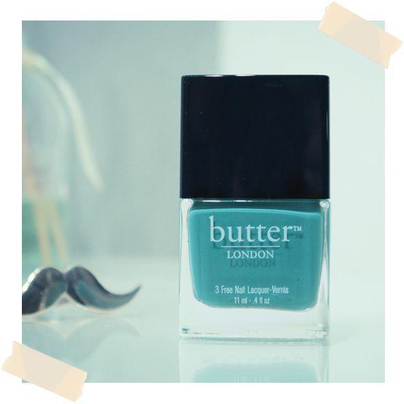 Butter London - Artful Dodger // Un joli bleu ciel et des stickers Moustaches !