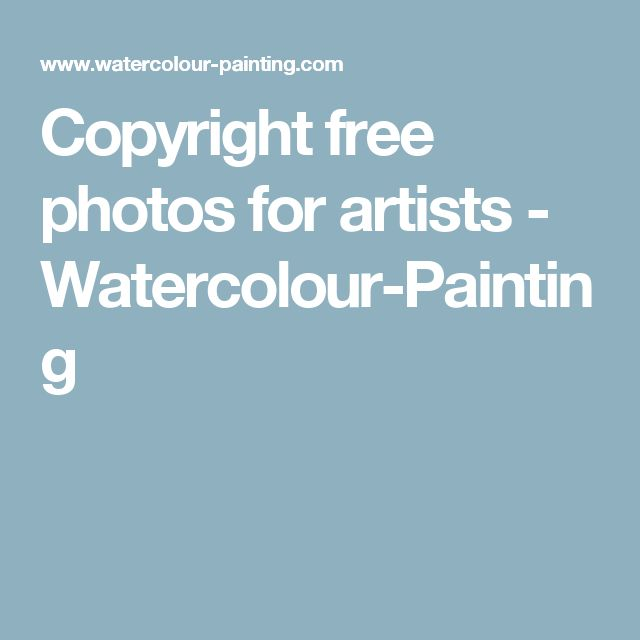 Copyright free photos for artists - Watercolour-Painting
