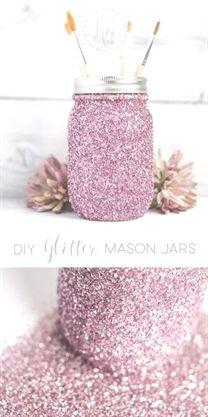 DIY Glitter Mason Jar Tutorial