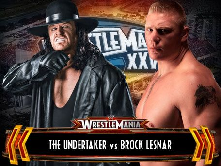 i like The Undertaker : Undertaker vs Brock Lesnar  !!!!!!!!!!!!!! No Way