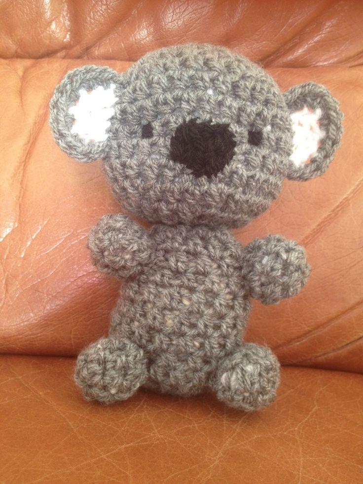 koala au crochet fait main hauteur 19,5cm : Jeux, peluches, doudous par creas-d-emilie
