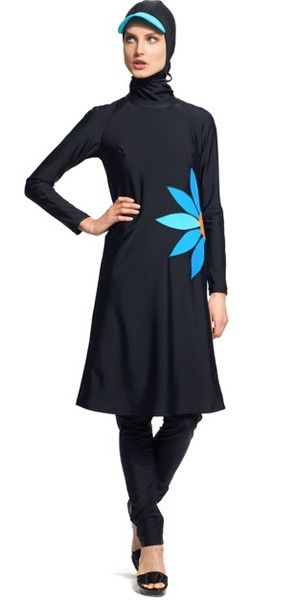 Stylish and cute modest swimsuit bathing suit burkini | Mode-sty #swimnotskin
