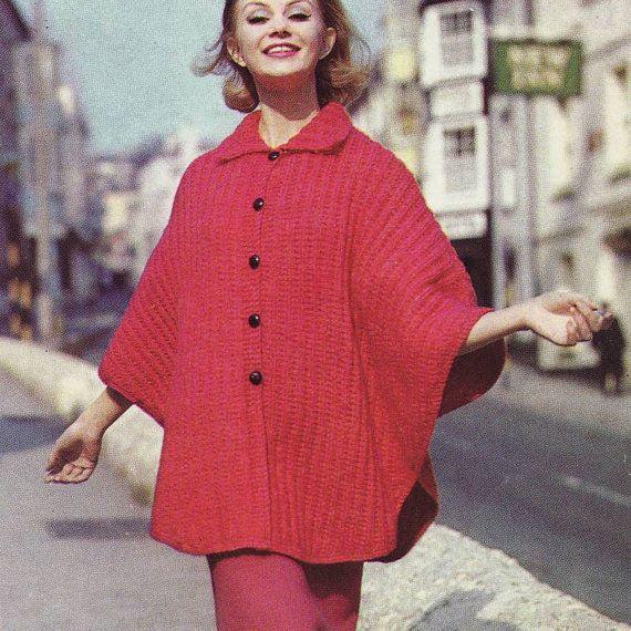 Instant Download Pdf Vintage Knitting Pattern Collared