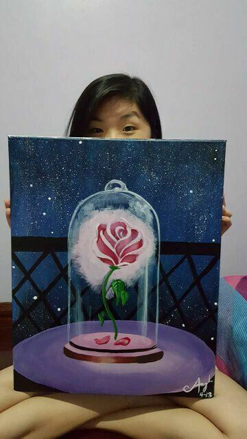 Beauty and The Beast Rose Canvas                                                                                                                                                                                 More