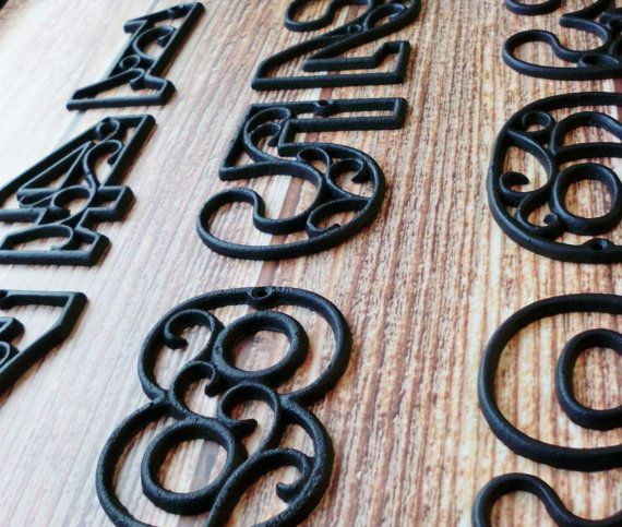 House Numbers Cast Iron Wall Hangers Decorative Victorian Decor 4.5 inches Table Numbers on Etsy, $9.99