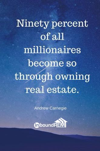 Andrew Carnegie Real Estate Quote. From the InboundREM blog post -  Top 50 real estate quotes of all time.     Twitter @inboudrem    #realestatequote  #AndrewCarnegie