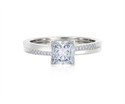 De Beers Princess promise engagement ring