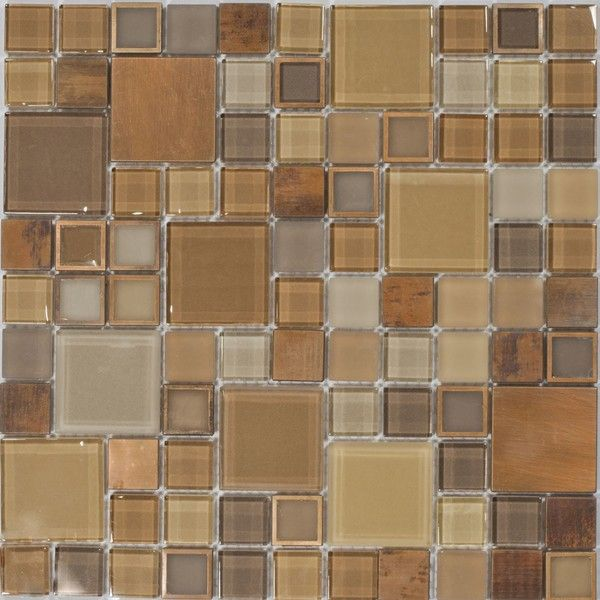 Dell'Arte - mozaiki dekoracyjne Frames Brass Extra 23/48 (plaster 30x30)