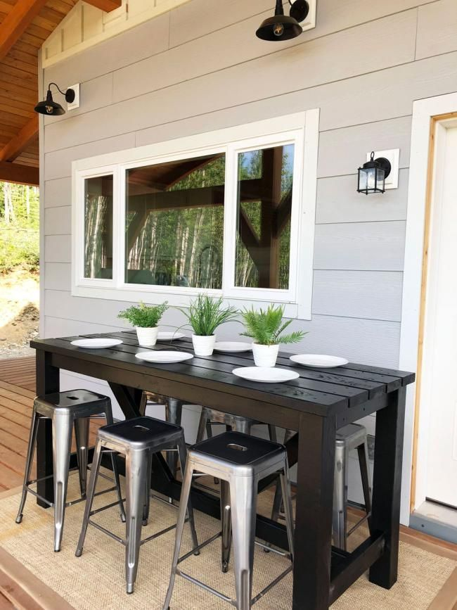 ana white outdoor bar table diy
