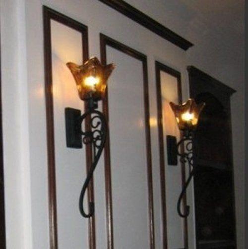 Промышленные стены бра Античный черный Китай Отель Бра ретро промышленное освещение Большой кованого железа настенные лампы крытый лампы
