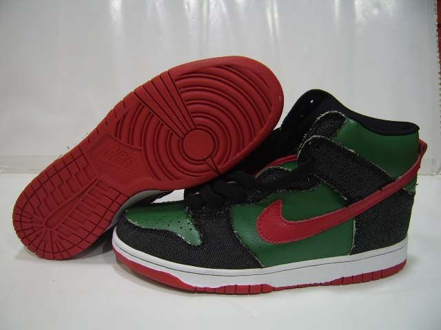 5bff188919 Nike SB Dunks High Pro SB Green Red Black | Kickz | Nike dunks, Nike, High  shoes