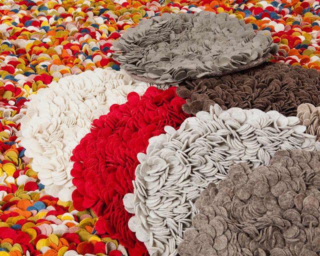 Las 25 mejores ideas sobre alfombras hechas a mano en for Mantas de lana hechas a mano