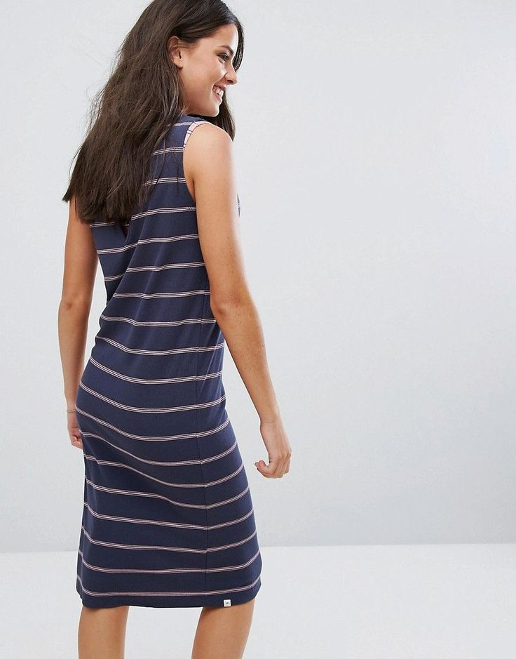Rip Curl Jersey Stripe Beach Dress - Navy