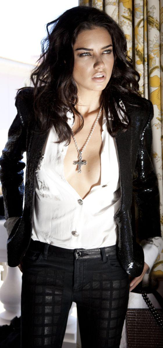 Adriana Lima cross