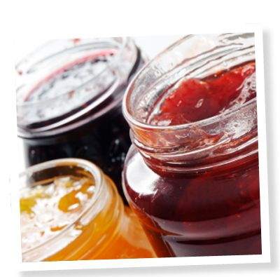 Stevia Sweetened Jam. Spiced peach and raspberry-peach sweetened jam using SweetLeaf® Stevia Sweetener. Click image for the full recipe!