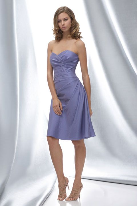 *color* Sweetheart taffeta bridesmaid dress with dropped waist