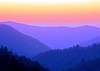 Great Smoky Mountain, Summer sunset