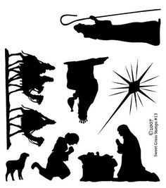 silhouette nativity: