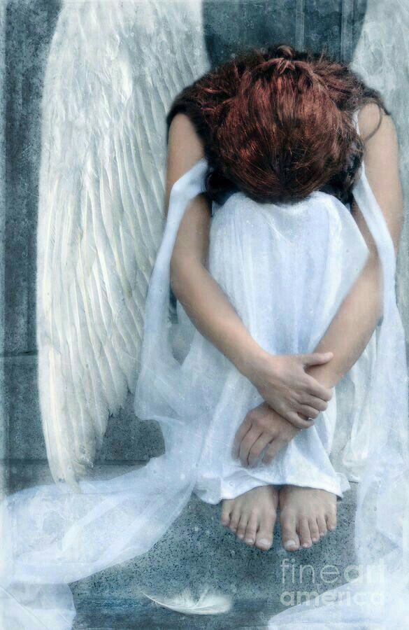 Очень грустные открытки с ангелами, картинки спор