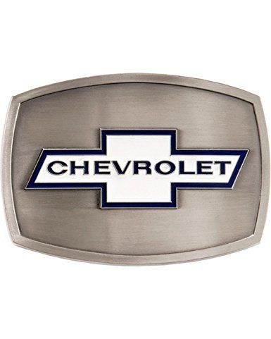 Western Express Men's Chevrolet Belt Buckle Silver One Size