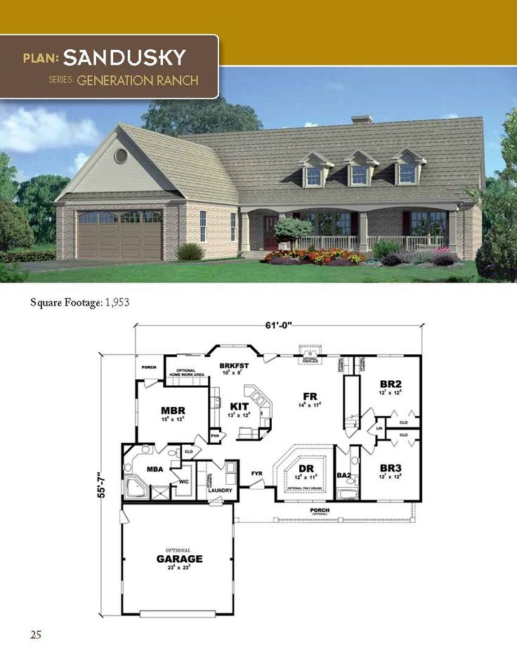 33 best Generation Ranch Home Plan Series images on Pinterest ...