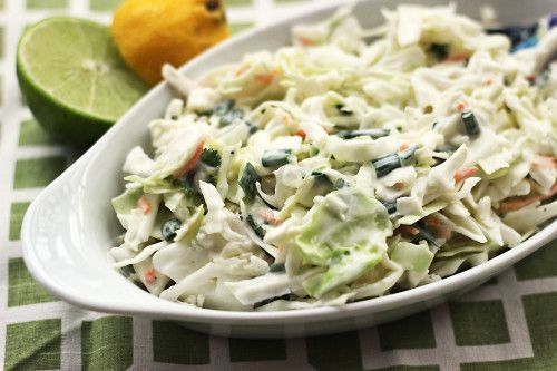 This coleslaw recipe makes a great coleslaw for pulled pork! The slaw recipe tastes great on it's own too.
