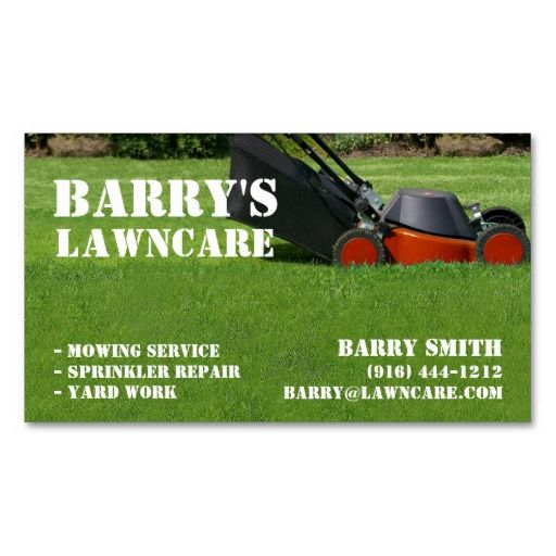 lawn care or landscaping business card