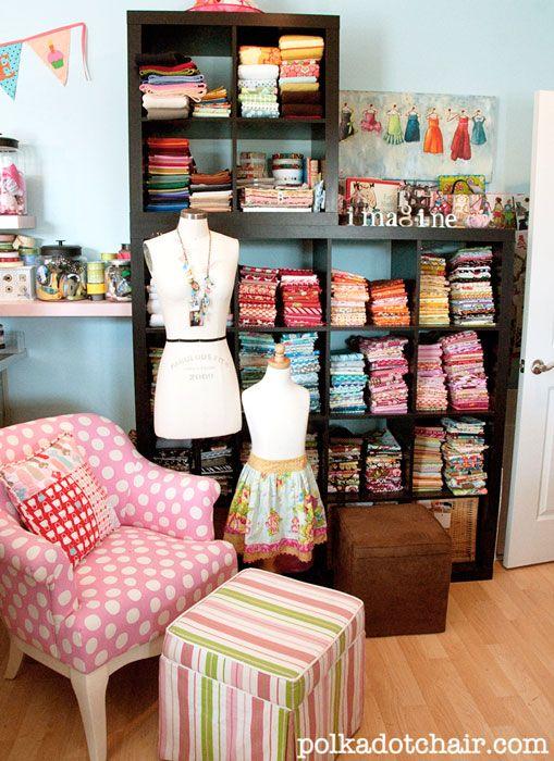 Charming Fabric Organization Ideas