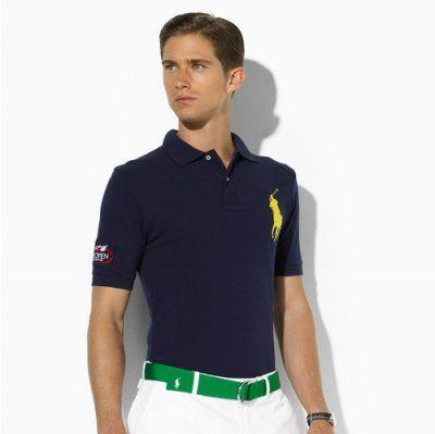Ralph Lauren 1002 US Open Custom-Fit Polo IN NAVY