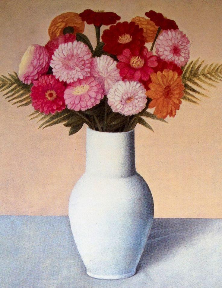 Ispirazioni Armoniche — Antonio Donghi (1897-1963) Vase of flowers, 1935 ...