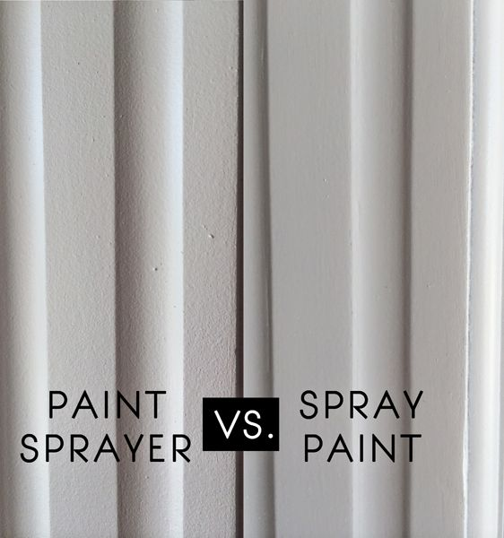 Spray paint vs paint sprayer furniture re dos for Spray paint makeovers