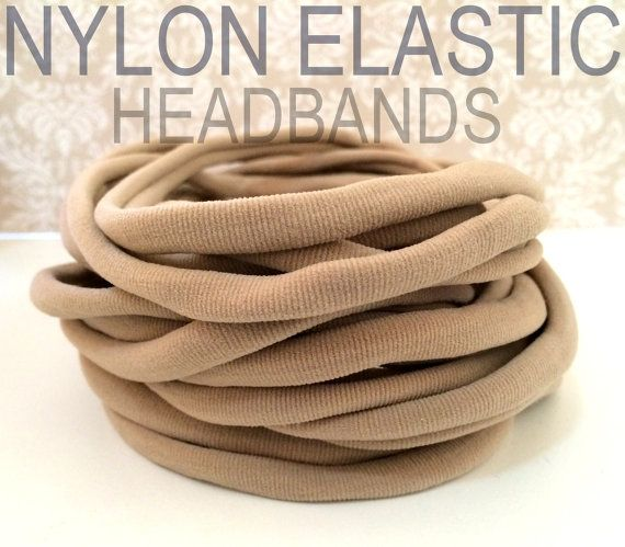 10 Pieces  Wholesale Nylon Headbands Thin One Size by OliverAndMay