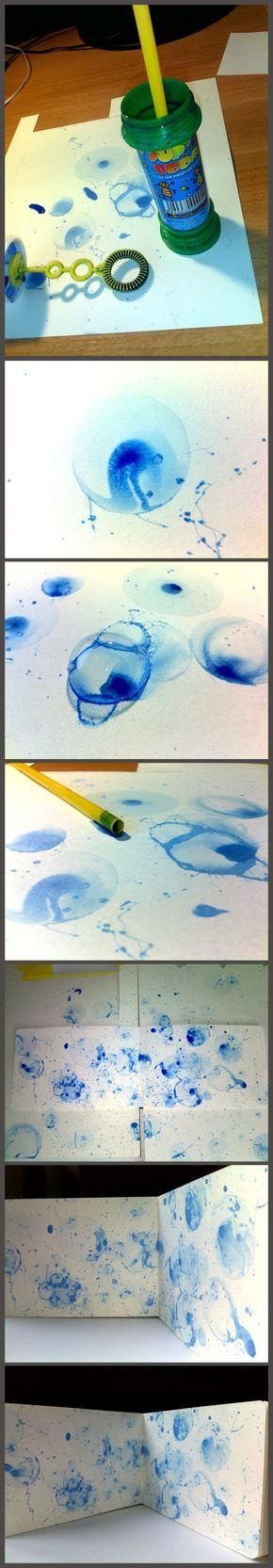 ...hacer burbujas de colores