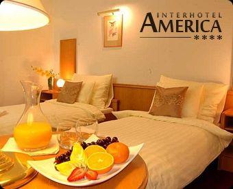 Třídenní wellness pobyt pro 2 osoby v krásném **** Interhotelu America  Cena 4950 Kč, po slevě 50 % 2475 Kč